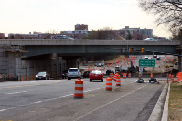 The Washington Blvd bridge over Columbia Pike