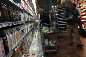 Shoppers at Whole Foods before a predicted snowstorm March 4, 2015