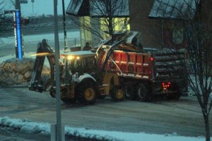 Snow clearing operations in Pentagon City