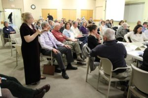 Community members at the Facilities Study meeting Wednesday, March 11