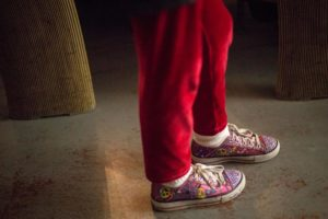 Peace sign shoes spotted at a concert at H-B Woodlawn (Flickr pool photo by Dennis Dimick)