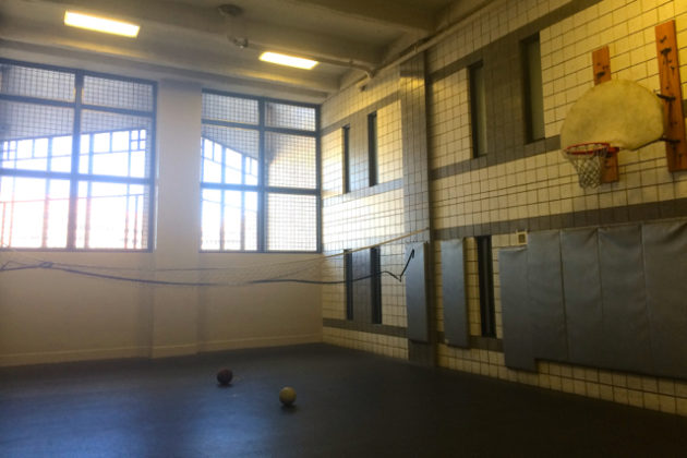 """""""Indoor/outdoor space"""" gym"""