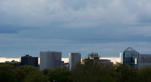 Dark clouds over Rosslyn (Flickr pool photo by John Sonderman)