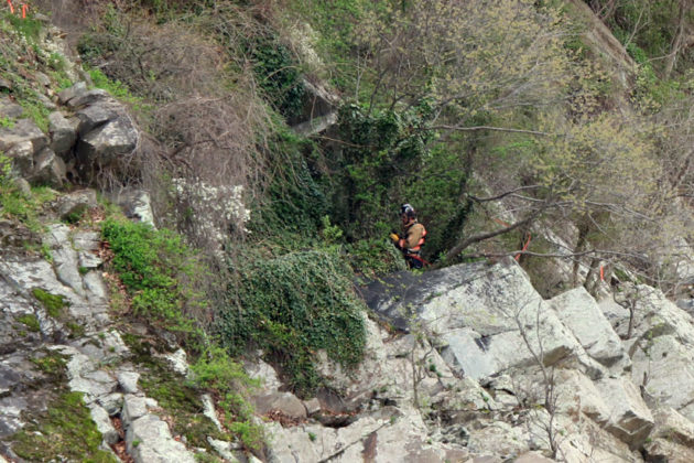ACFD's technical rescue, at the scene of the dead body spotted by the Potomac River