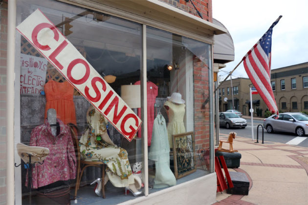 Eclectic Threads in Lyon Park, closing June 2015