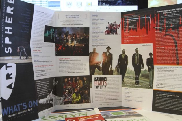 Promotional materials from the opening of Artisphere