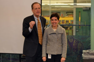 APS Superintendent Patrick Murphy with Principal of the Year Lynne Wright (photo courtesy APS)