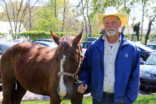 Leslie Fender and his horse, Angel