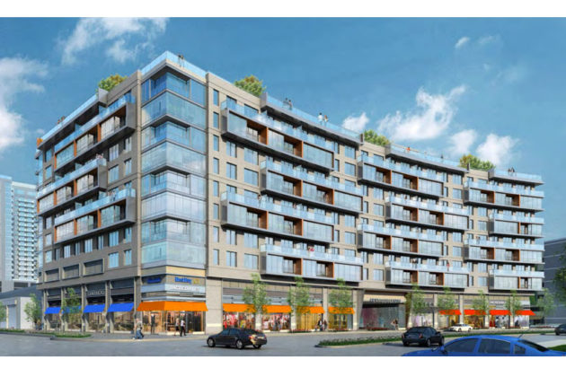 Rendering of the residential building at the corner of S. Hayes and 15th Streets