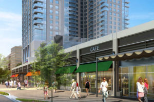 Rendering of the retail building along S. Hayes Street (file photo)