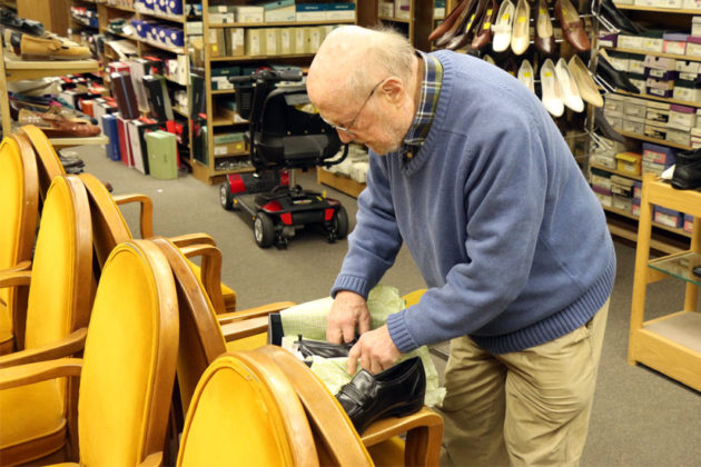 "S.H. ""Doc"" Friedman, owner of Public Shoe Store, which is likely to close this summer"