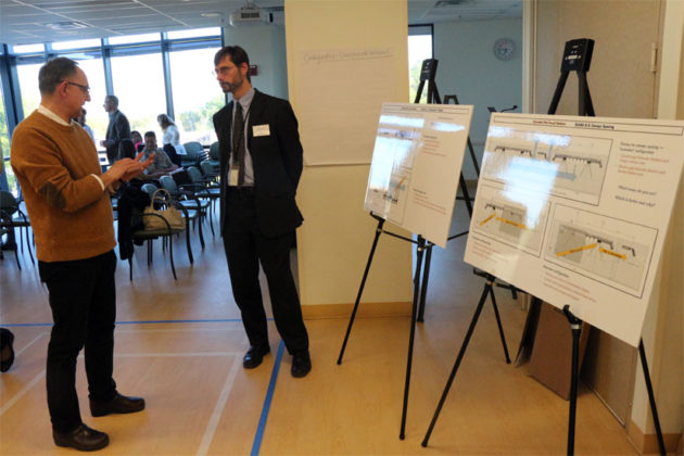 CPRO Executive Director Takis Karantonis, left, and Transit Stations project manager Matthew Huston,