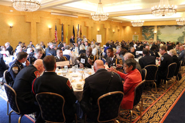 The crowd attending the 2015 Valor Awards