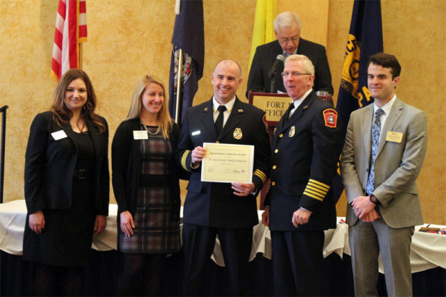 Dr. Reed Smith, the ACFD's operational medical director, wins the Meritorious Service Award