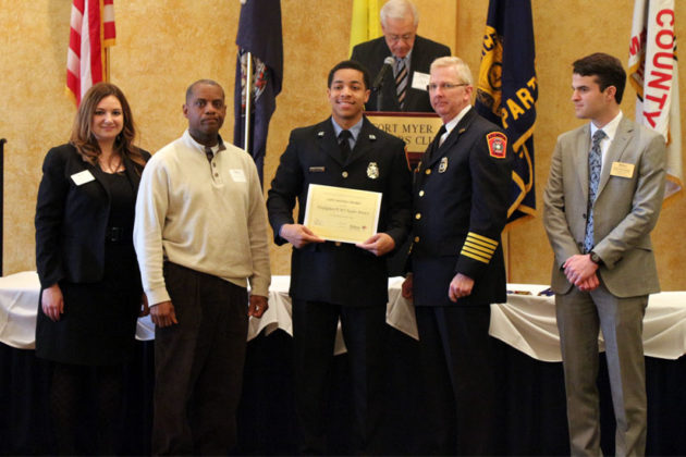 Firefighter/EMT Taylor Brown wins the Lifesaving Award