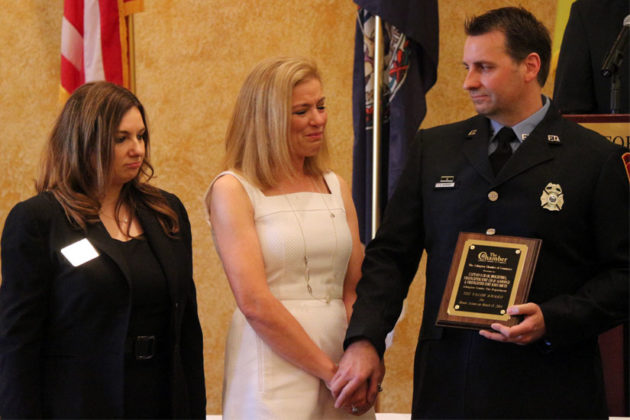 Firefighter/EMT Chad Aldridge wins the Valor Award
