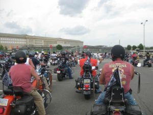 Rolling Thunder motorcycle rally at the Pentagon (Flickr pool photo by Brian Irwin)