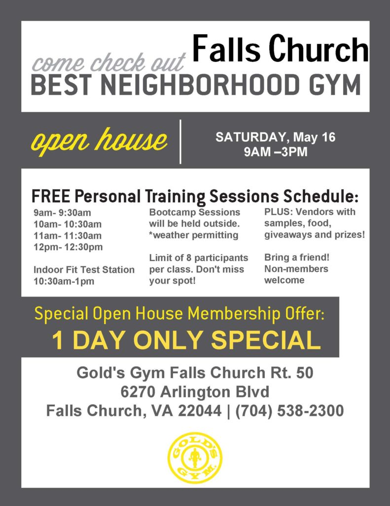 Falls Church Open House Flyer  Free Open House Flyers