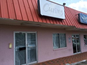 Former Curves storefront in Cherrydale, possible home to a new gun store