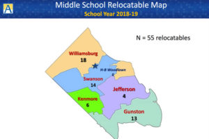 Where Arlington Public Schools is planning to put relocatable classrooms in the 2018-2019 school year