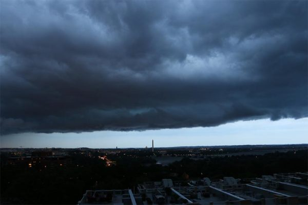 Storm clouds over Arlington and D.C. (Flickr pool photo by Brian Allen)