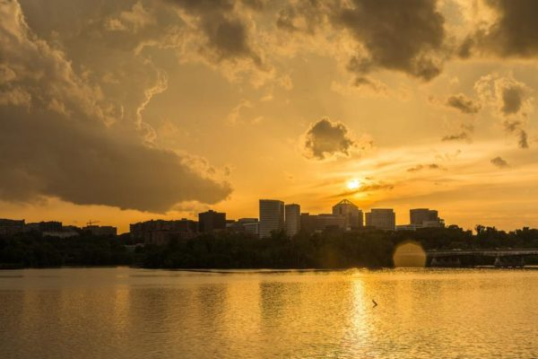 Stormy sunset over Rosslyn (Flickr pool photo by Joseph Gruber)