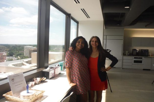 Summer interns Sadhana Singh (DREAMer, left) and Julia Leibowitz (right).