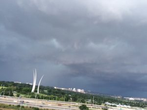 Storm approaching Arlington 6/23/15