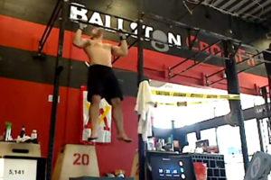 John Bocek setting an unofficial pullup record