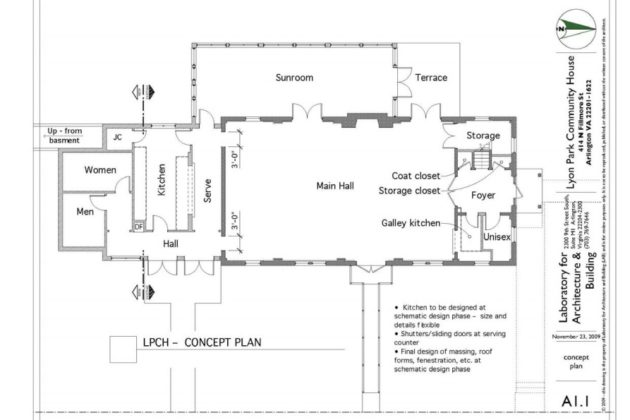 Floor plan for Community Center renovations (photo via LPCA)