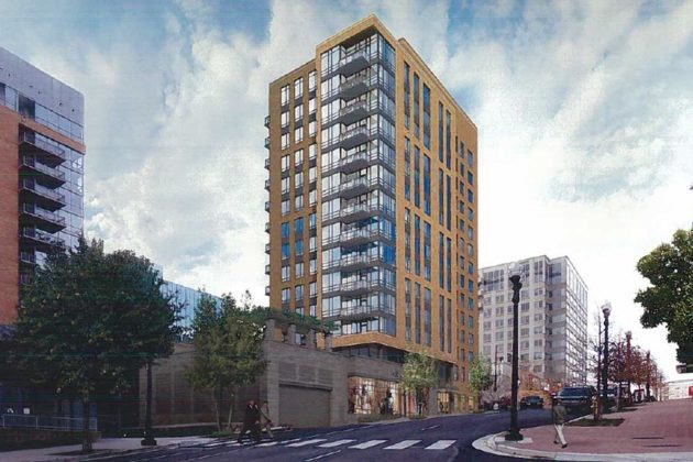 Rendering of planned development at 2000 Clarendon Blvd