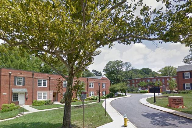 A set of garden apartments in Westover neighborhoods.