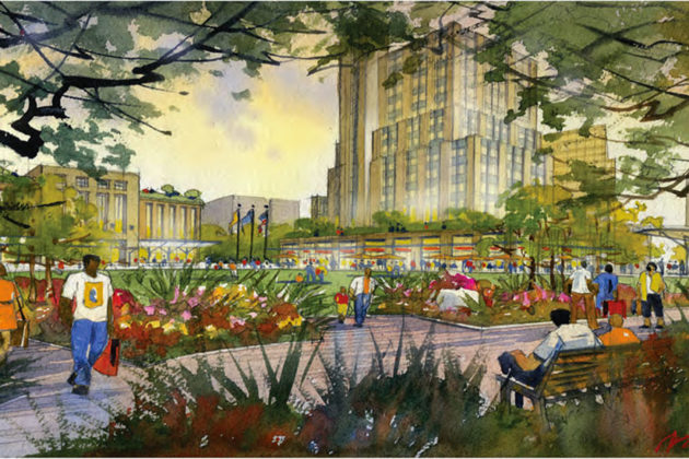 Rendering of Memorial Grove (Courtesy of Arlington County)