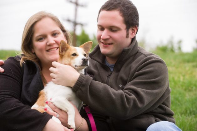 Abi and her new owners (photo by Shelley Castle Photography)