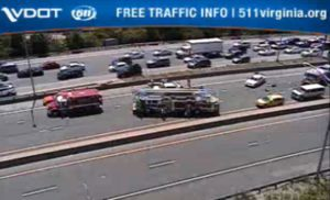 Crash on I-395 HOV lanes