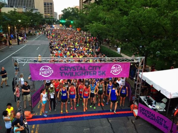 Crystal City Twilighter 5K on July 25, 2015 (photo courtesy Crystal City BID)