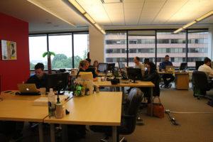 Brazen staff working