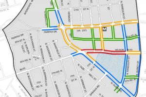 Retail plan color coded map for Ballston