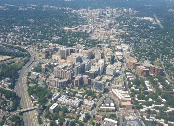 Aerial view of the Rosslyn-Ballston corridor (photo courtesy James Mahony)