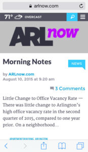 ARLnow mobile website
