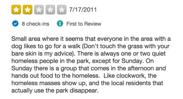 Yelp Review of Oakland Park