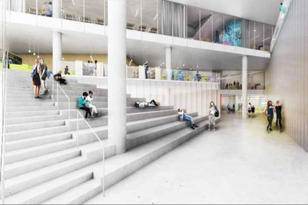 Wilson Blvd lobby rendering (Via APS)