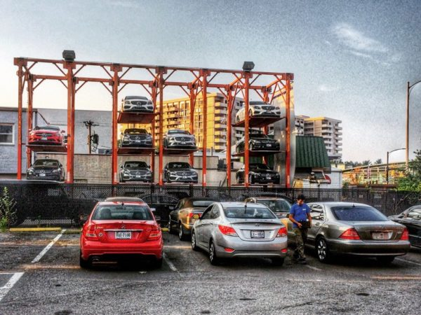 Car storage in Ballston (Flickr pool photo by Dennis Dimick)
