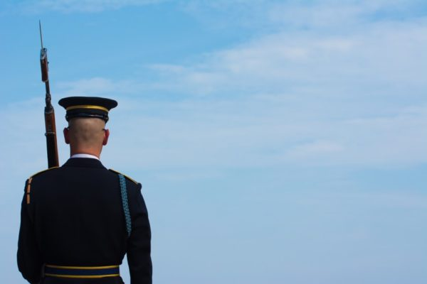 Tomb guard at Arlington National Cemetery (Flickr pool photo by John Sonderman)