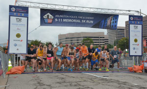 Runners lined up for the 9/11 Memorial 5K Run on Saturday (courtesy photo)