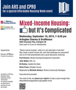 Mixed income housing discussion flyer