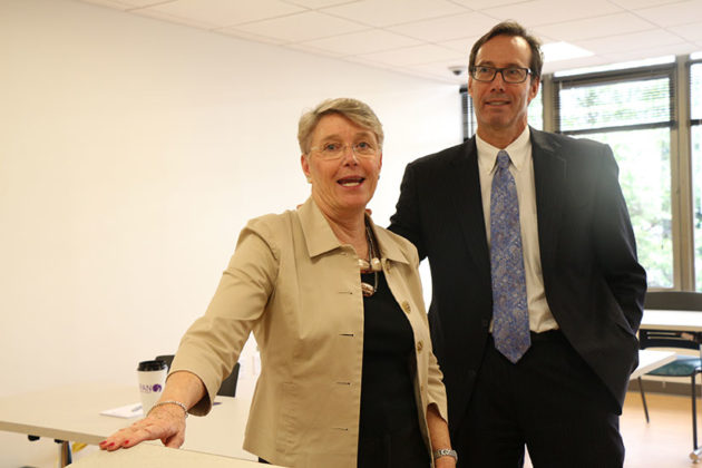 Kathy Sibert and County Board member Jay Fisette