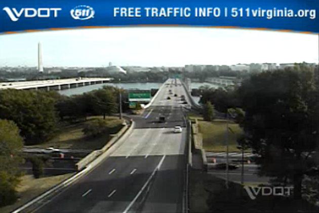 I-395 during Thursday morning's rush hour