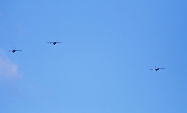 Military jets flying over Arlington (Flickr pool photo by Samer Farha)