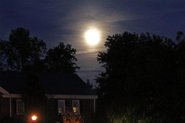 Autumn moon over Fairlington
